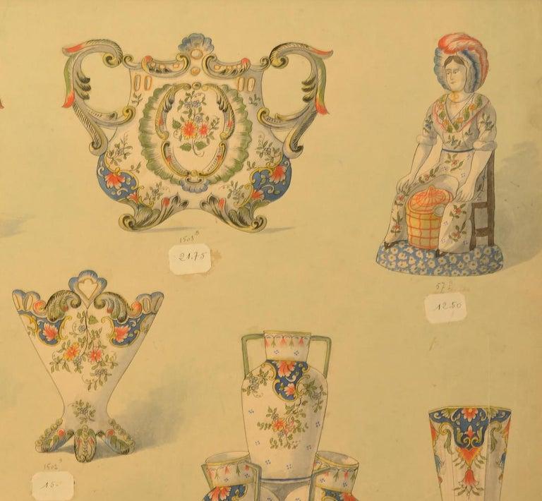 Geroges Martel, Desvres Porcelain designs, 1900 For Sale 2
