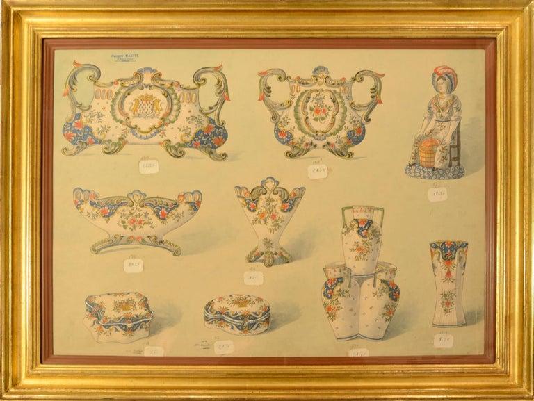 Geroges Martel, Desvres Porcelain designs, 1900 - Art by [PORCELAIN] - MARTEL, Georges.