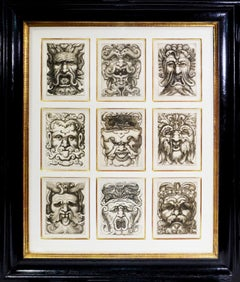 Giovannoli,  Four Groups of Nine Grotesque Masks.