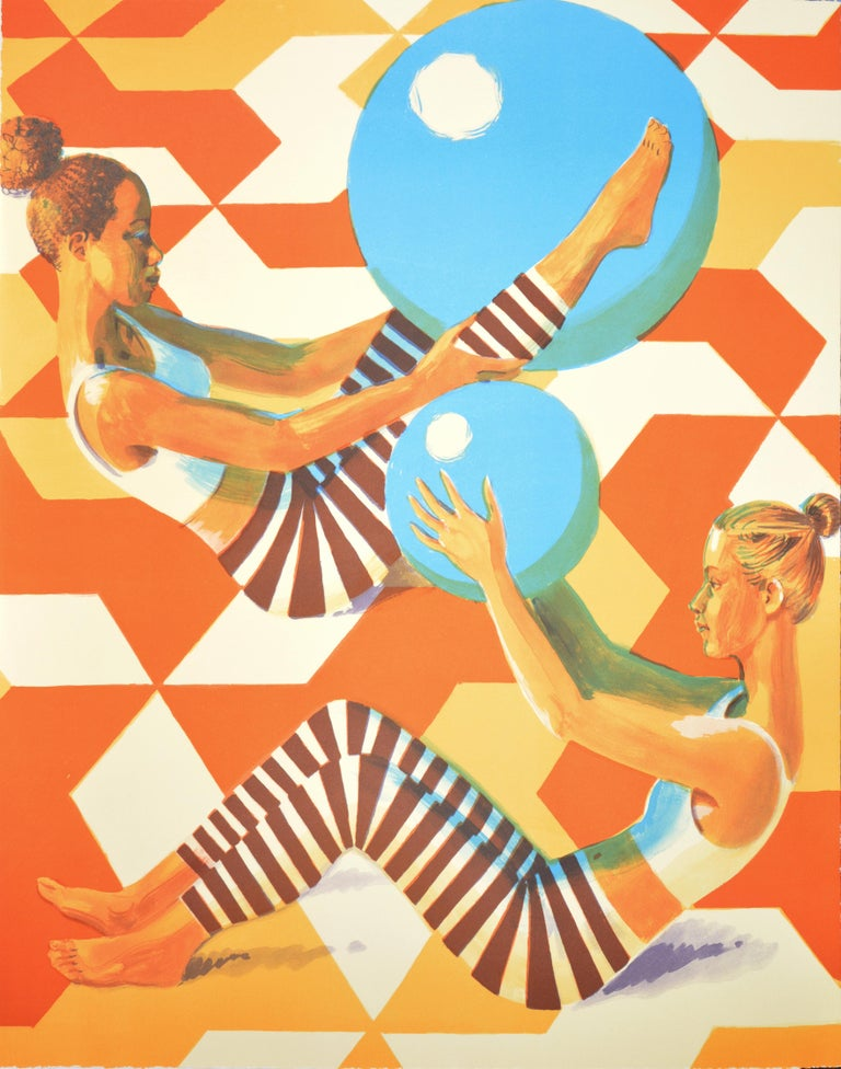 Benjamin Senior Figurative Print - Senior, Ball Games, Lithograph, 2019