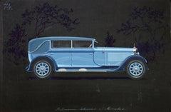 Pullman Cabriolet coachwork design by Alexis Kellner AG for the Mercedes Typ Man