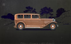 Pullman Limousine coachwork design by Alexis Kellner AG for the Adler Standard 8