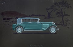 Cabriolet coachwork design by Alexis Kellner AG for the Cadillac 341-A.
