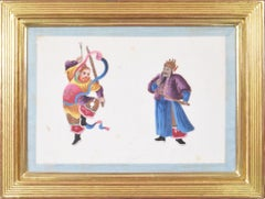 Chinese Export Watercolours on Pith Paper, set of twelve Deities.