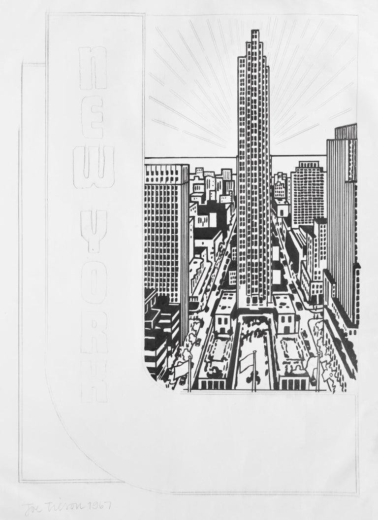 Joe Tilson Landscape Art - JOE TILSON, STUDY FOR DECAL 3, Unique, Signed, 1967