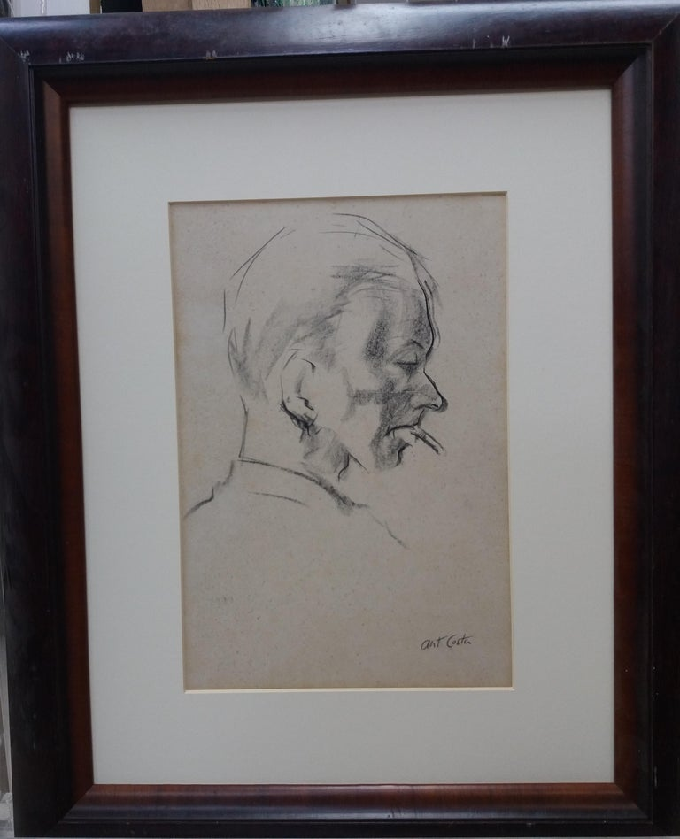 A. COSTA Figurative Painting -   Man. original figurative academician drawing painting