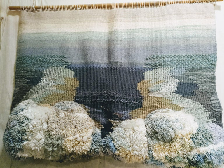 Mediterraneo II. original tapestry - Art by Maria Asuncion Raventos