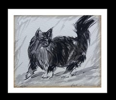 my cat original  ink drawing realist painting