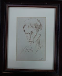 man. original figurative academician drawing painting