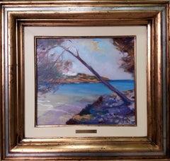 coast of Mallorca. original figurative acrylic painting