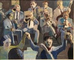 Copla original expressionist acrylic canvas painting 1978