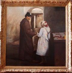 """ THE TEACHER "" original realist acrylic canvas painting"