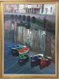 """BERMEO"" original realist acrylic canvas painting"