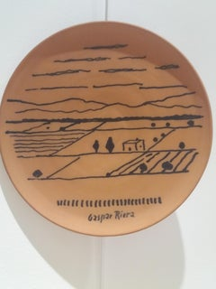 Majorca. Original unique ceramic piece