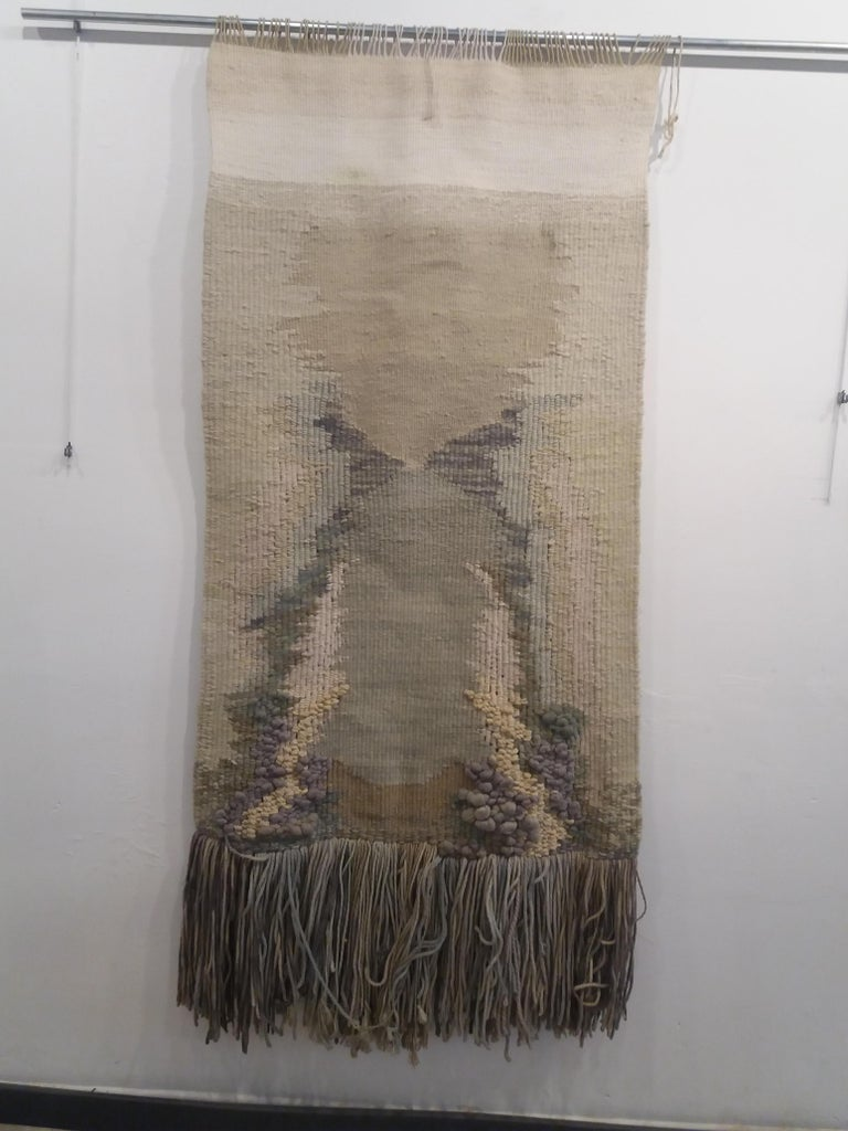 Manantial II. Original tapestry - Abstract Expressionist Art by Maria Asuncion Raventos