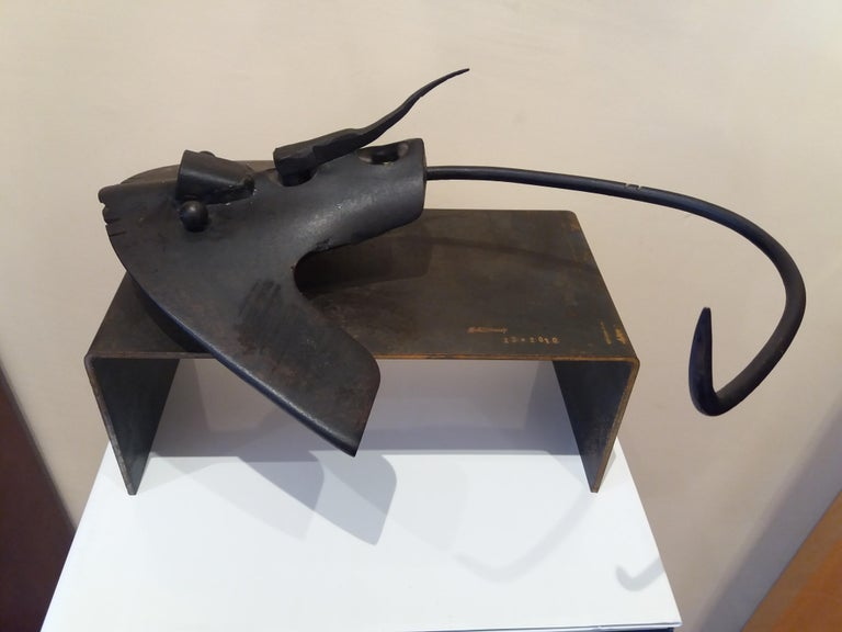 Pez manta Original  unic contemporary iron sculpture - Contemporary Sculpture by E. ALEMANY