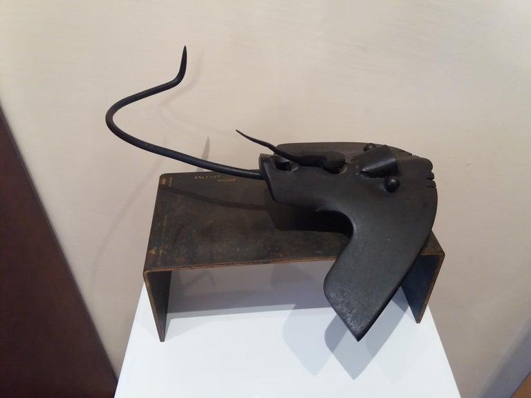 Pez manta Original  unic contemporary iron sculpture For Sale 2