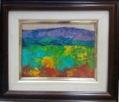 Paisaje original expressionist acrylic painting