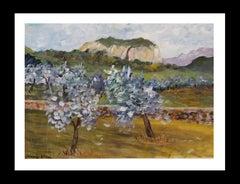 Majorca original watercolor paper expressionist painting