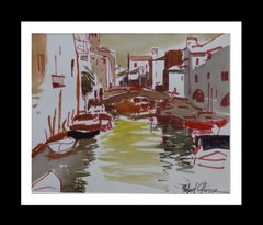 Venice original watercolor expressionist painting