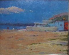 Marina. original acrylic expressionist painting