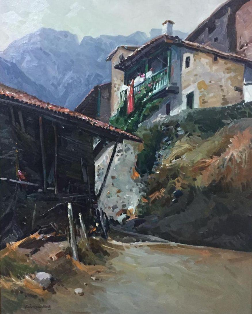 """PICOS DE EUROPA "" original realist acrylic painting"