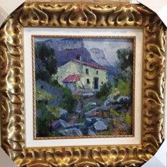 Les Guilleries. Original acrylic painting