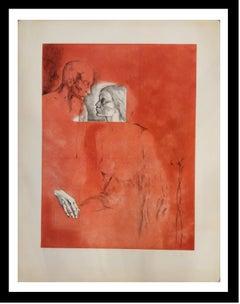 Memory original engraving pianting