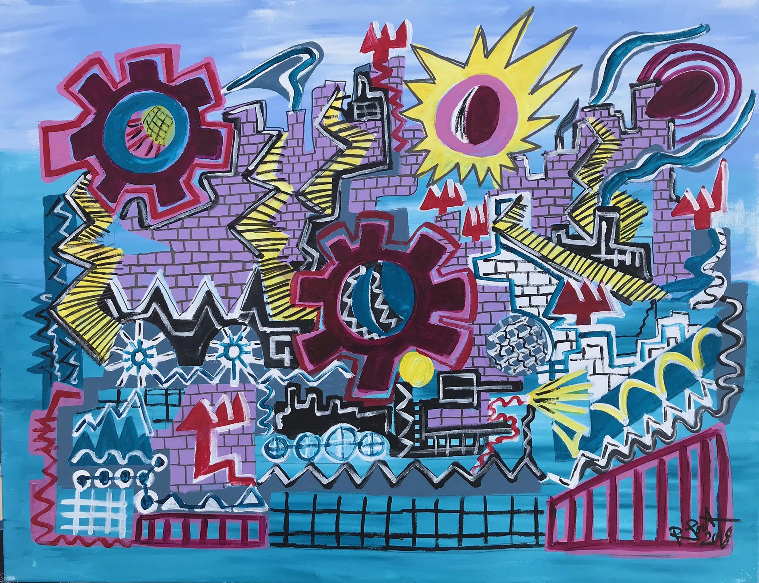3.-Castle  acrylic painting
