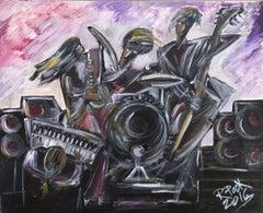7.-Jazz Quartet   acrylic painting
