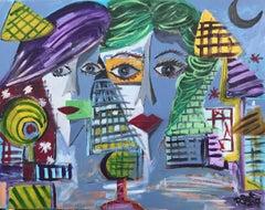 13.-Yellow eyes   acrylic painting
