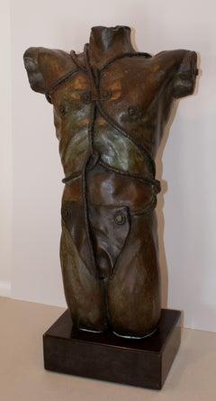 TORSO. original bronze 7/7 sculpture