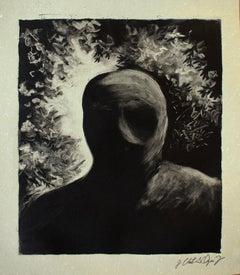 """""""Reflejo"""", José C. Orozco Farías, Monotype, Mexican Art"""
