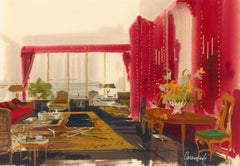 Paint Interior Drawings and Watercolors