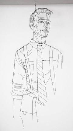 Wire Sculpture of Man