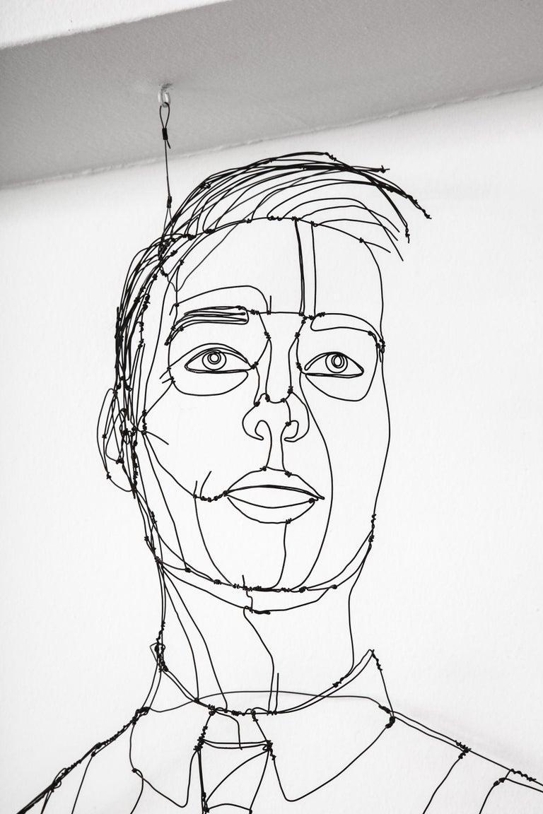 Wire Sculpture of Man For Sale 1
