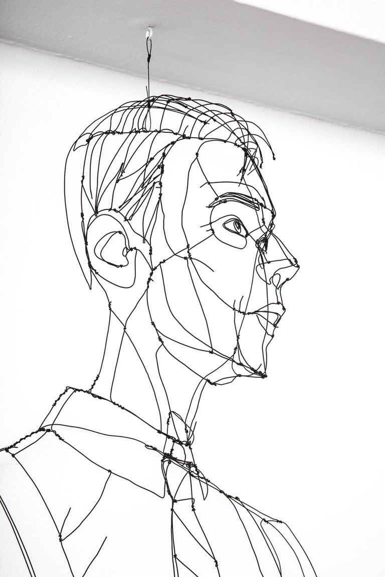 Wire Sculpture of Man For Sale 2