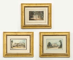 Set of Three Prints of English Country Houses