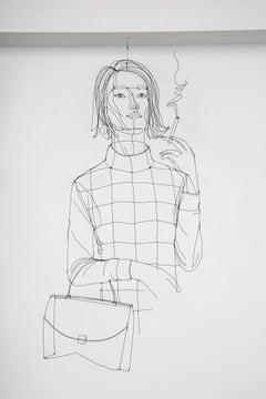 La Fumeuse Wire Sculpture