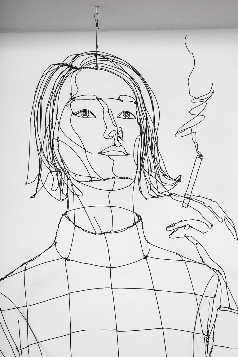 La Fumeuse Wire Sculpture For Sale 1