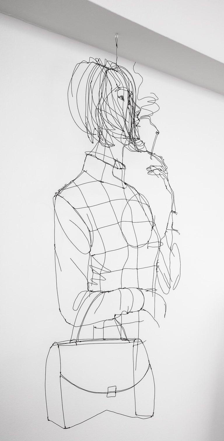 La Fumeuse Wire Sculpture For Sale 2