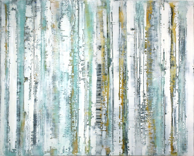 Greg Ragland Landscape Painting - Parallel Layers 5, Celeste Blue