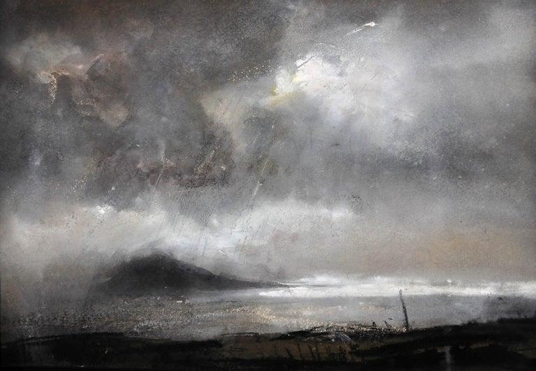 William Selwyn Landscape Art - Swnt Enlli – Bardsey Sound, Wales. Original Landscape Watercolor. Welsh Artist.