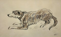 Sheepdog (Collie).Kyffin Williams.Original Watercolor.Modern Welsh.Dog Painting.