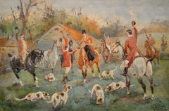 The Presentation of the Brush to Ma'am. Hunting Scene Prior to World War 1