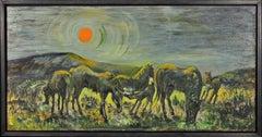 Ponies at Penlan, 1967.Swansea.Wales.Welsh Pony.Valleys.Equestrian.Hot Sun.