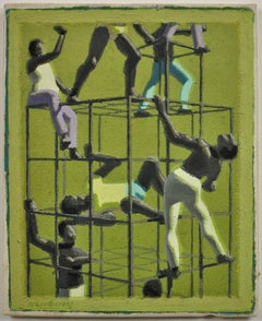 The Climbers, 1970. Geometric Abstract Parallel Projection.Ruskin School Oxford.