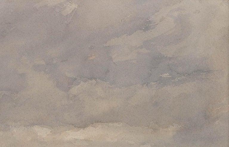After a winter gale, Leven Sands, Fife, Scotland.Original watercolour circa 1890 For Sale 3