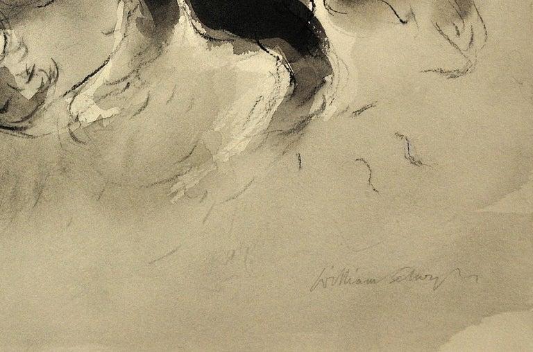 Sheepdog. Original Watercolor by Welsh Artist William Selwyn. Working Dog.  8