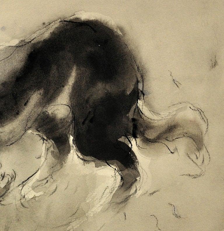 Sheepdog. Original Watercolor by Welsh Artist William Selwyn. Working Dog.  10